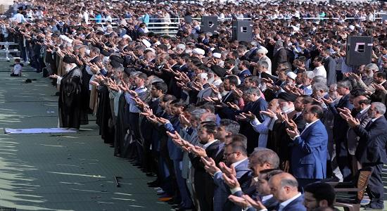 اقامه نماز عید سعید فطر تهران به امامت امام خامنهای