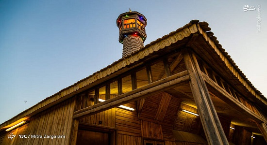 مسجد چوبی در دهکده چوبین