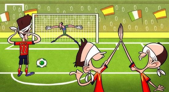 بازی اردویی؛ پنالتی با چشم بسته