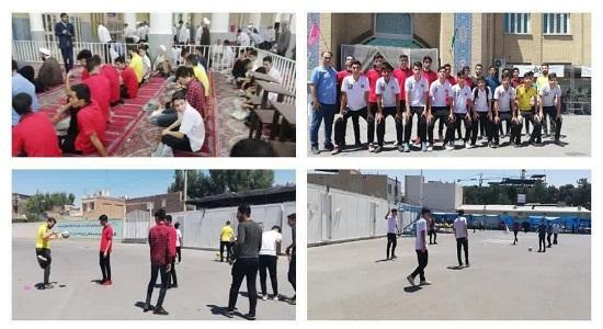 حرکات نمایشی تیم فوتسال محمد سیما در نماز جمعه قم