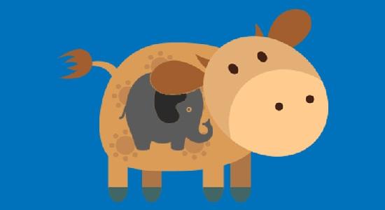 طنز؛ فیل بزرگ تر است یا گاو؟