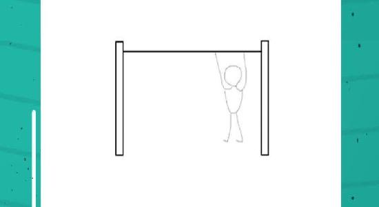 آویزان شدن از طناب و عبور از مانع