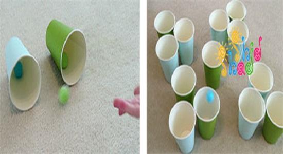 9 بازی سرگرم کننده با لیوان کاغذی