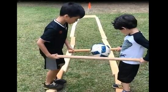 بازی تعادلی چوب و توپ