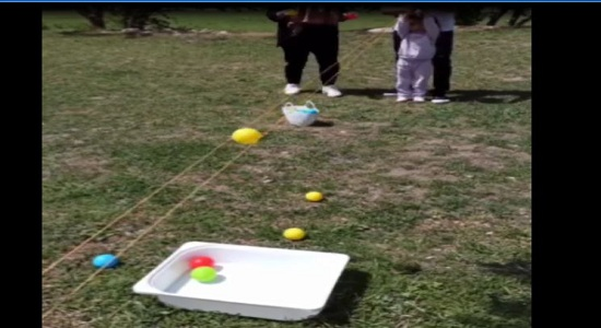بازی توپ روی ریل